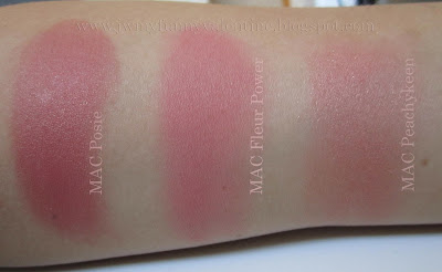MAC Posie, MAC Fleur Power, MAC Peachykeen