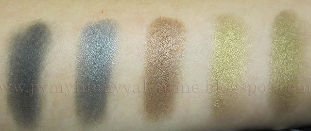 Inglot eye shadow swatches AMC Shadow 63, Pearl 451, Pearl 421, Shine 49, Pearl 433