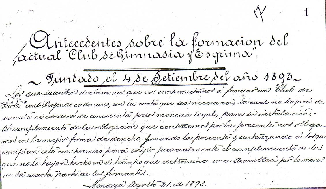 Antecedentes de la fundación del Club