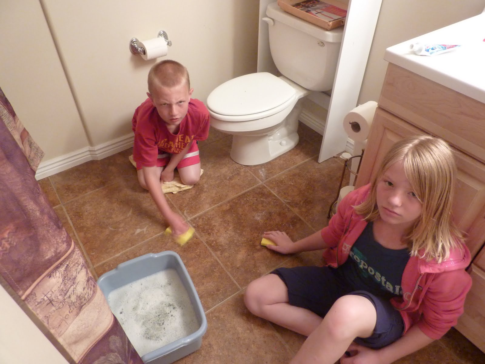 Kids Cleaning Room Now don't call child service