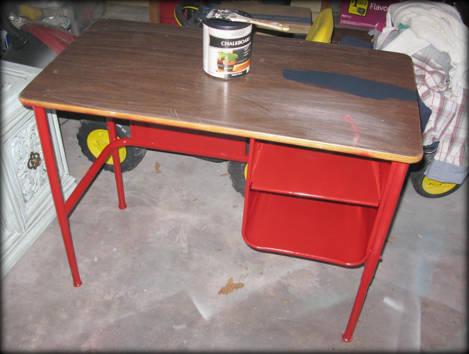 tattered and inked kids art desk makeover. Black Bedroom Furniture Sets. Home Design Ideas