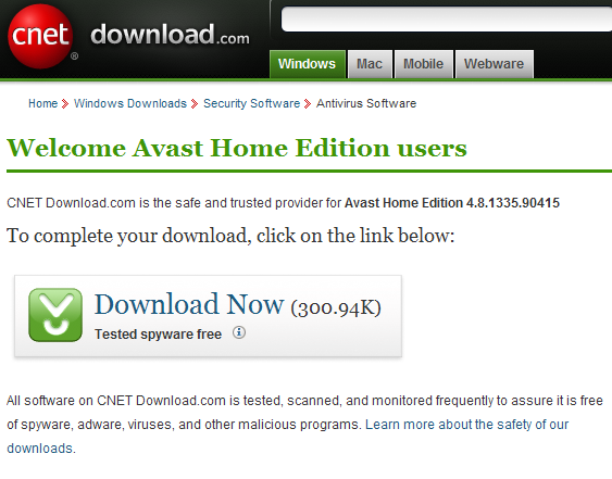 is cnet safe to download from