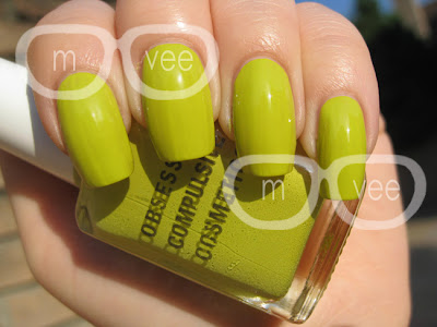 obsessive compulsive cosmetics wasabi swatch