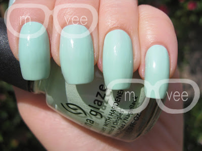 china glaze refresh mint swatch
