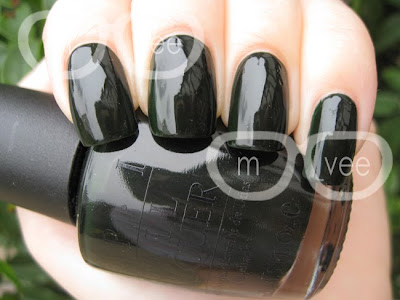 OPI here today aragon tomorrow swatch