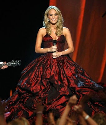 Carrie Underwood won as the Entertainer of the year in the Academy Of