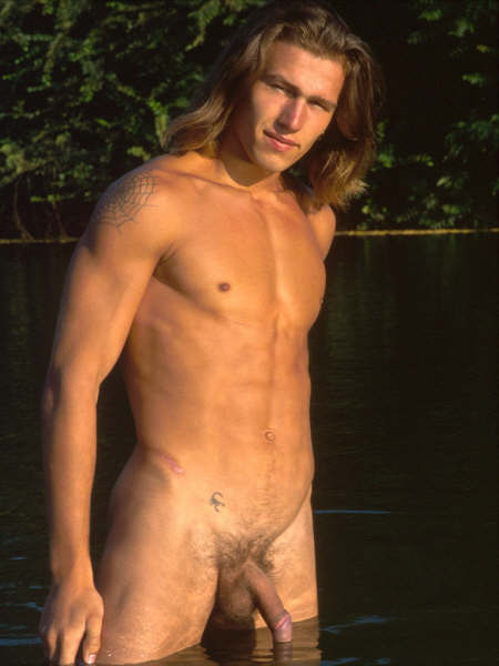 Nude man long hair