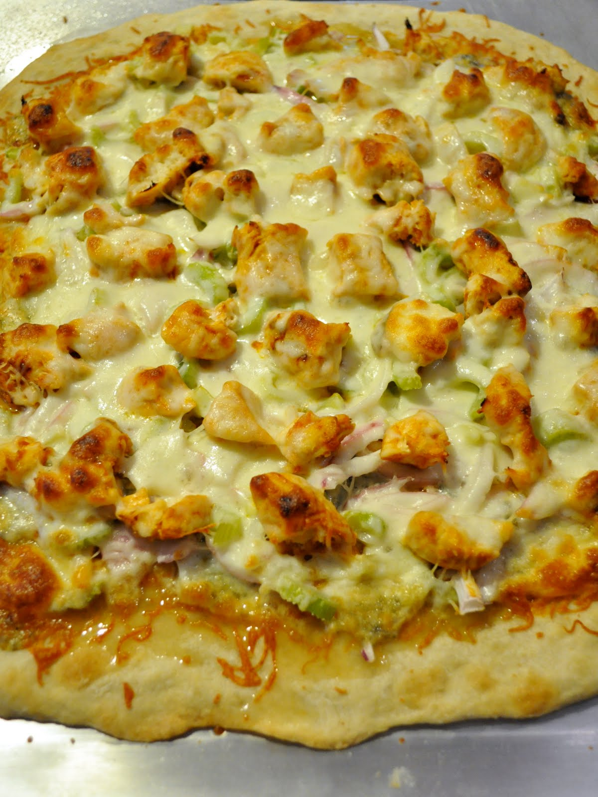 Ashley's Cooking Adventures: Buffalo Chicken Pizza