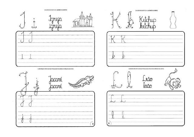 Alfabeto letra cursiva-atividades