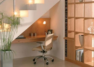 You Can Create A Compact Work Place. Use A Small Desk For Computer And  Cabinet Can Also Be Installed Here For Placing Books. Make A Storage Under  Stairs ...