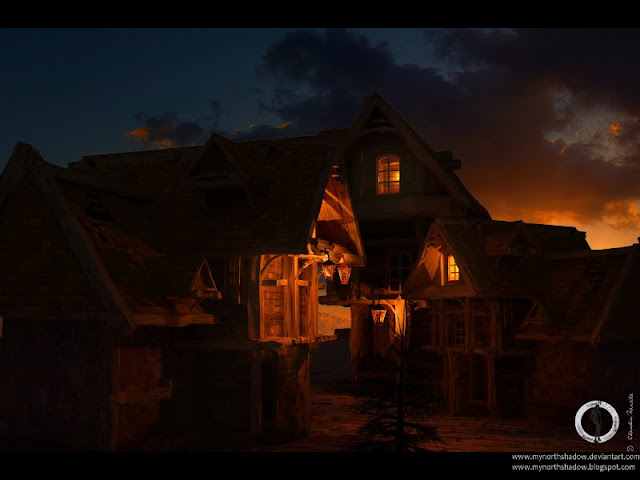home medieval in 3D