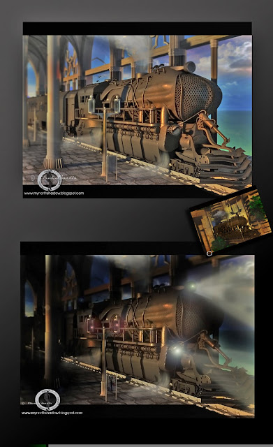 best 3d train render