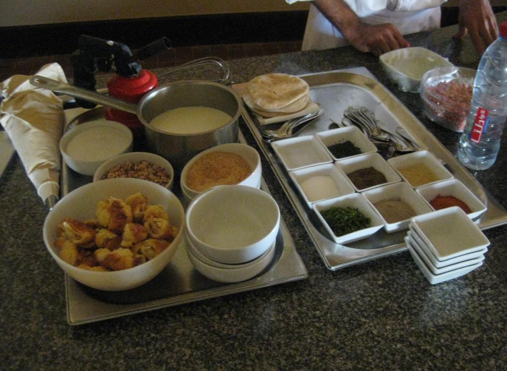 Zutaten für den Kochkurs im Radisson Blu Resort El Quseir