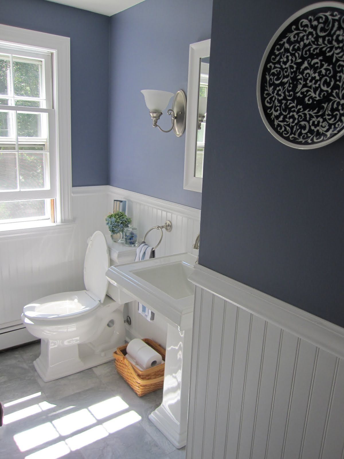 Half bath redo - Bathroom remodel ideas with wainscoting ...