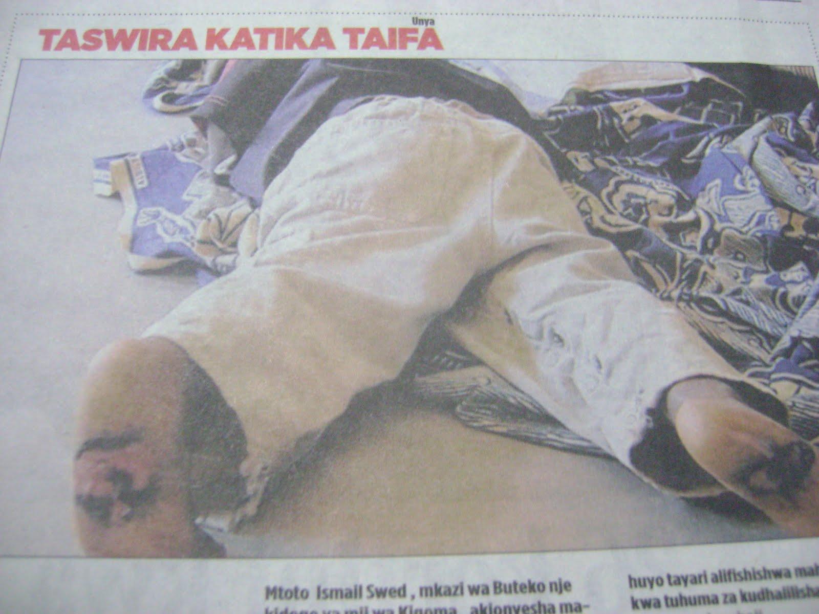 Leo katika gazeti la mwananchi ukurasa wa 7 ilikuwepo hiyo picha hapo