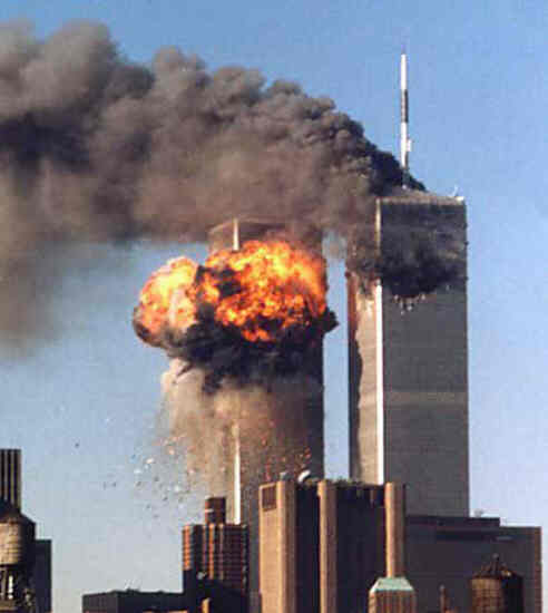 World Trade Center Towers under attack