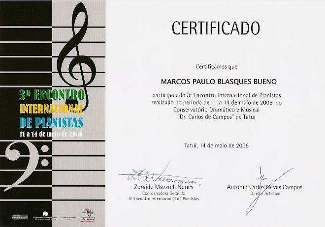 I Encontro Internacional de Pianistas