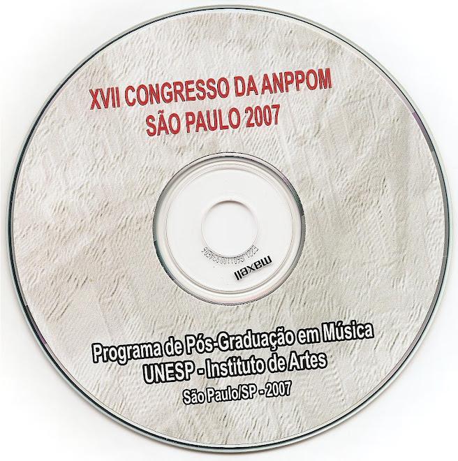 Publicação inserida em CD ROM ANPPOM 2007