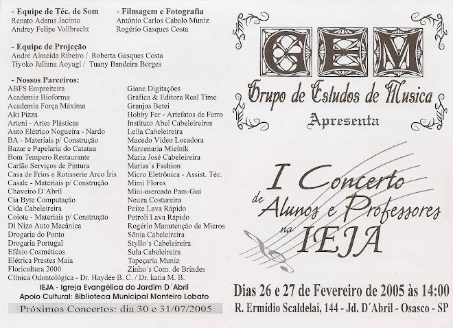Promoção e Direção Geral do I Concerto do GEM