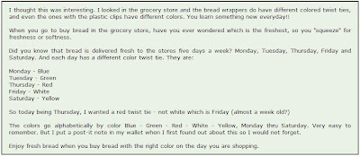 recipe what do the colors of the bread ties mean 18 - Bread Ties Color