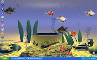 stardock aquarium desktop namanya. Software desktop untuk aquarium