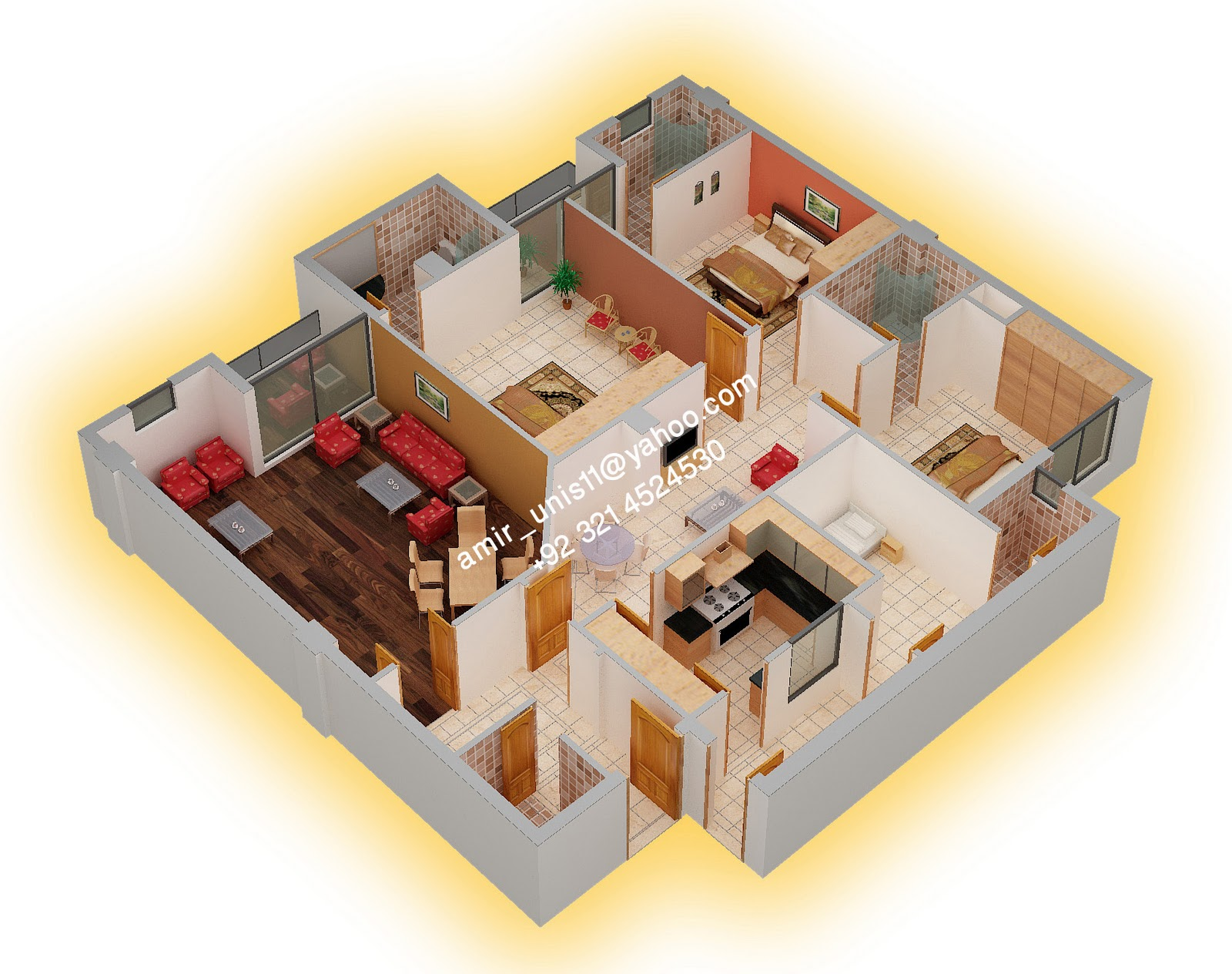 house floor plans 3 bedroom 2 bath 3d. 3d floor plan house plans 3 bedroom 2 bath