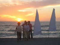 Visitors to Lido Beach Enjoy Beautiful Sunset