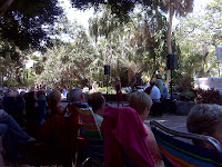 Enjoying Mother's Day concert at Selby Gardens