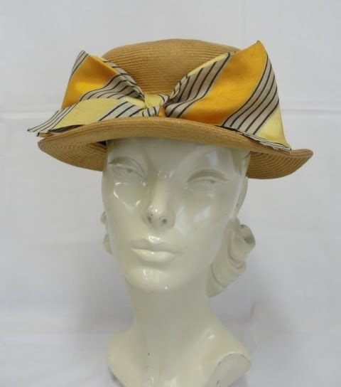 House of Nines Design: Hat of the Week: My Lilly Dache Straw