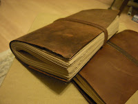 革のノート leather journal