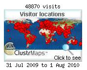 Blog Visits in 2009 - 2010
