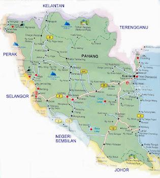 peta negeri pahang