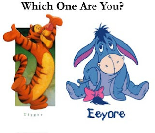 Picture of Tigger and Eeyore. Which one are you?