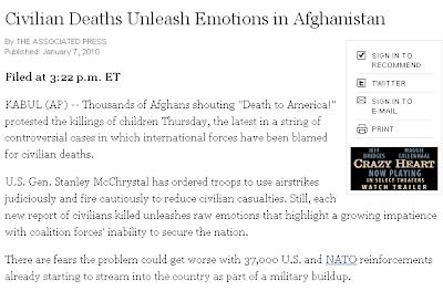 Civilian deaths unleash emotions in Afghanistan