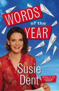 The front cover of Susie Dent's book, Words of the Year