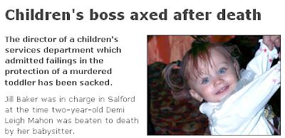 Children's boss axed after death