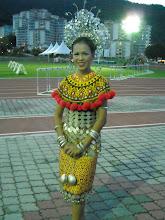 In Iban attire