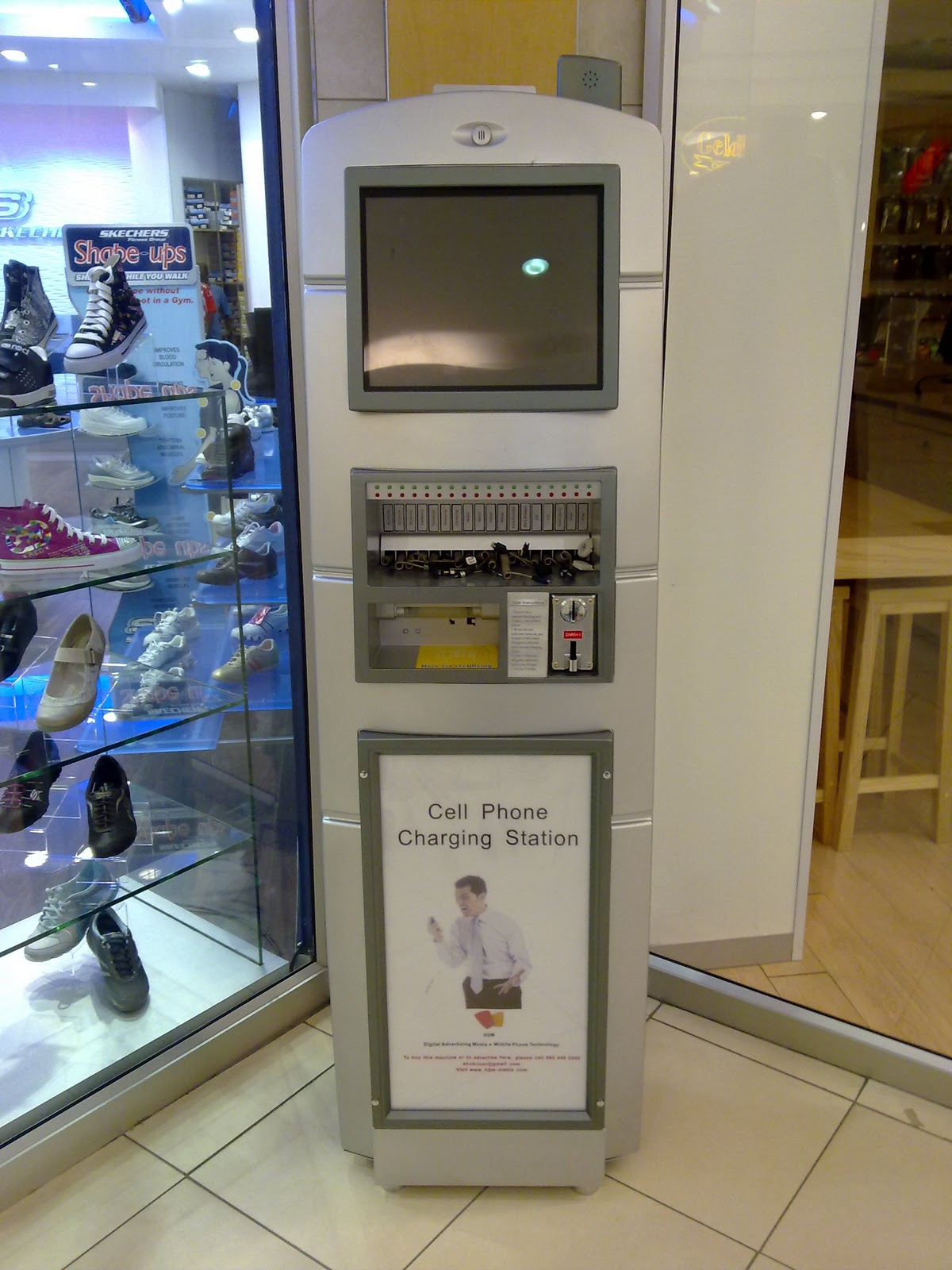 cell phone machine at mall