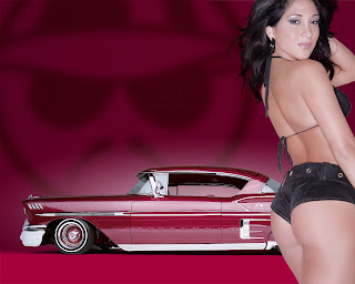 Chevrolet Chevy Impala 1958 and Hot Girl