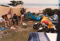 Bikers and the Beach