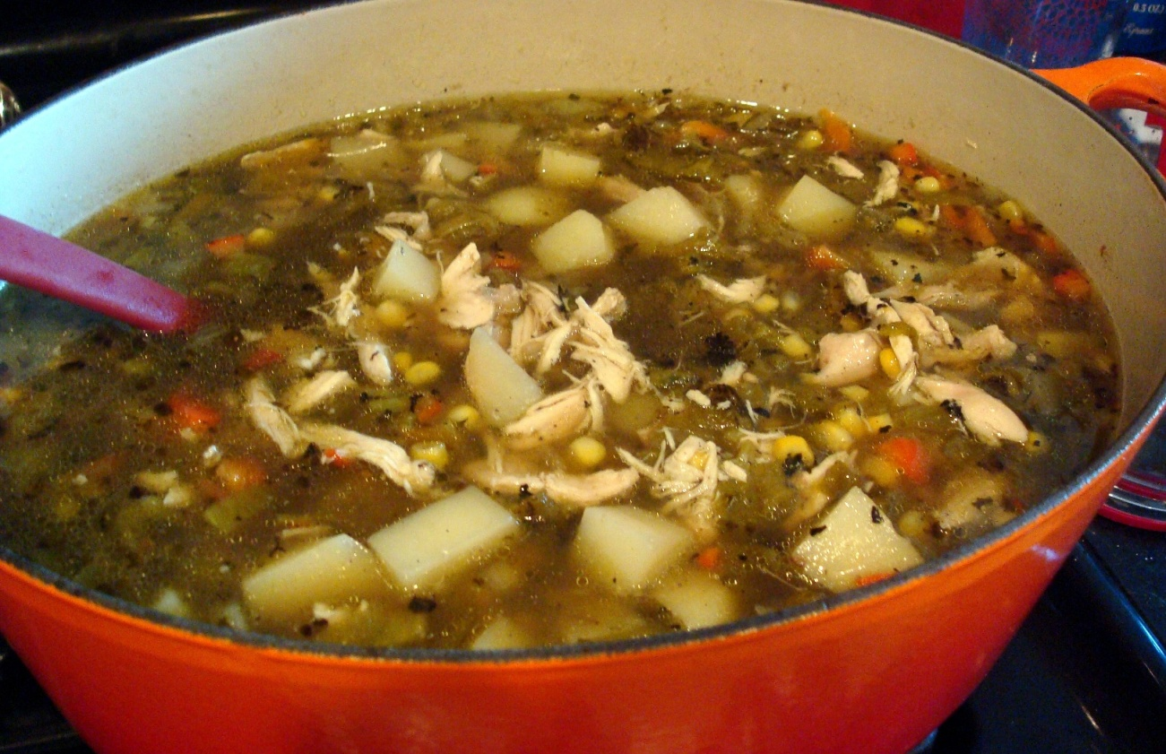 Green Chile And Chicken Stew Recipe — Dishmaps