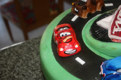 Cars cake, race track cake, Las Vegas Wedding cakes
