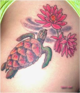 Turtle Tattoo Design For Girls