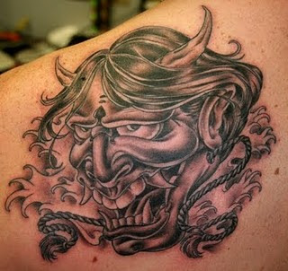 Scary Devil Tattoo Design