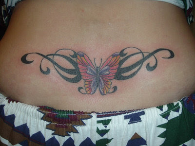 Beautiful Lower Back Tattoo For Young Girls