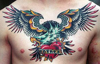Eagle Tribal Tattoo for Men - Male Chest Tattoo