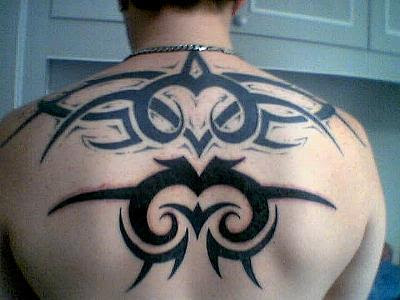 Tribal Tattoo on Male Back