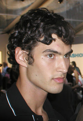 Mens Curly short hairstyle