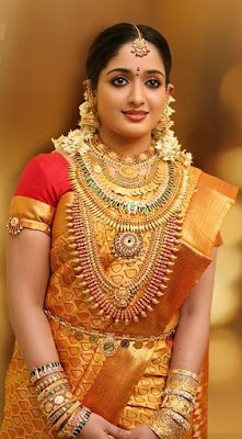 South Actress Kavya Madhavan in Bridal Jewelry