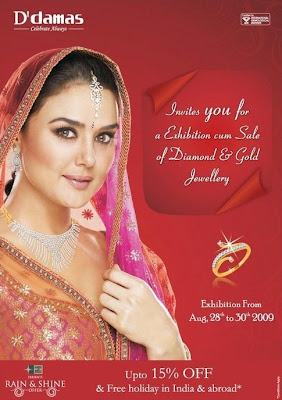 Preity Zinta in Diamond Jewellery by D'damas
